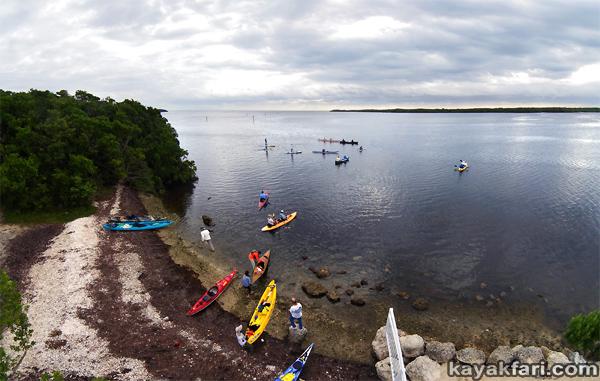 flex maslan Kayakfari photography garden cove launch kayak florida keys paddle aerial key largo reef