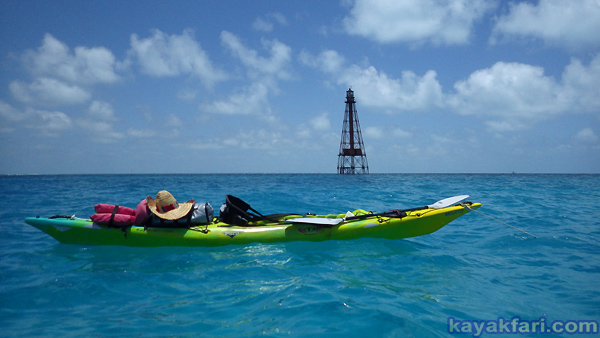 flex maslan Kayakfari sombrero reef lighthouse kayak paddle dive coral keys adventure marathon photography history