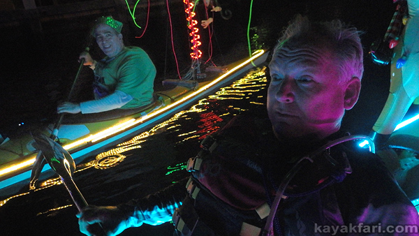 Flex Maslan Kayak Winterfest Boat Parade Christmas lights LED kayakfari Ft Lauderdale Holidays paddle photography 2019