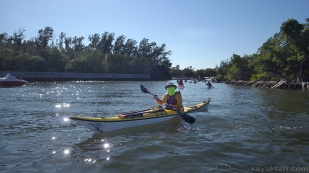 Flex Maslan kayak west lake kayakfari ft lauderdale hollywood paddle florida new year loop intracoastal trails