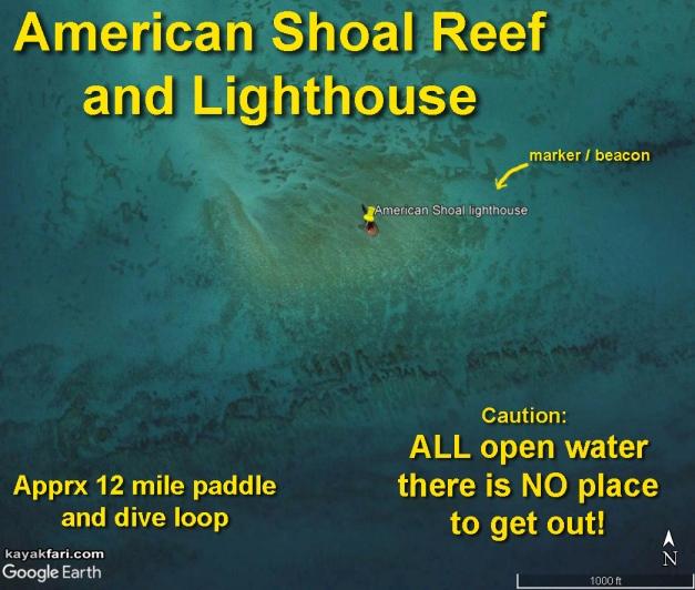 flex maslan Kayakfari reef american shoal lighthouse kayak paddle sugarloaf key dive history photography sammy creek satellite