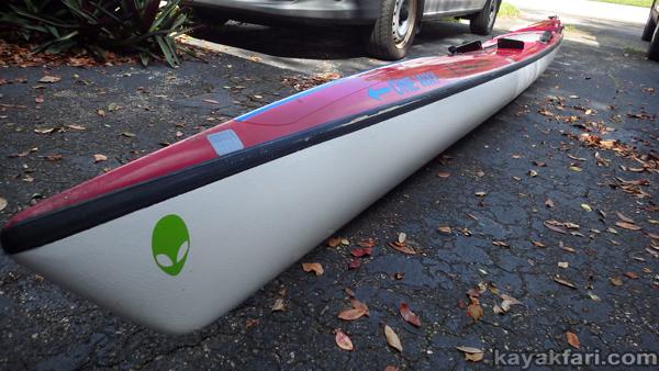 flex maslan kayakfari surfski findeisen shearwater repair surf zone florida waves stringer foam surgery