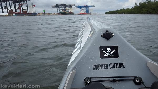 flex maslan kayakfari port everglades gantry cranes kayak ft lauderdale photography paddle