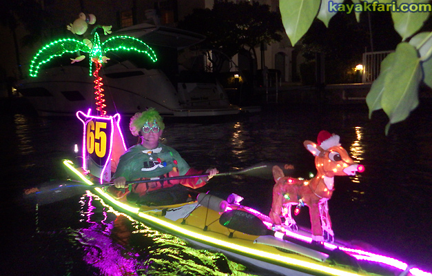 flex maslan Pompano Beach Kayak Christmas boat parade kayakfari Holidays lights LED paddle photography alien 2020