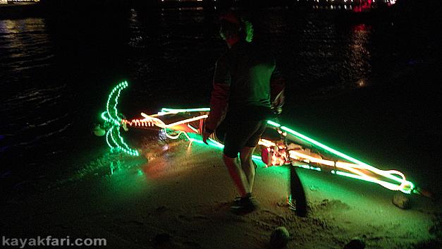 flex maslan Pompano Beach Kayak Christmas boat parade kayakfari Holidays lights LED paddle photography alien 2020