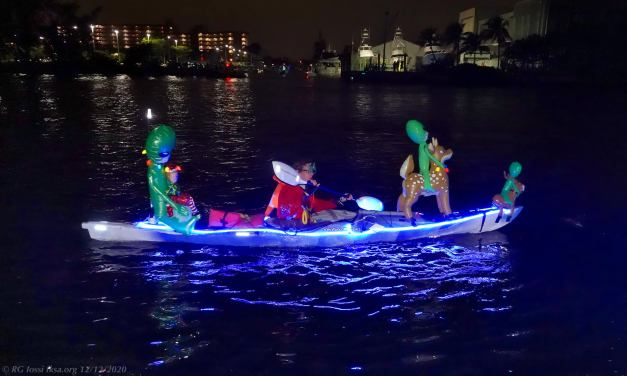 RG Iossi fksa.org Pompano Beach Kayak Christmas boat parade kayakfari Holidays lights LED paddle photography alien 2020