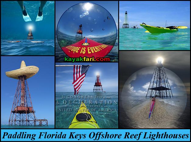 flex maslan kayakfari keys reef lighthouse paddle kayak fowey carysfort alligator sombrero american sand key offshore