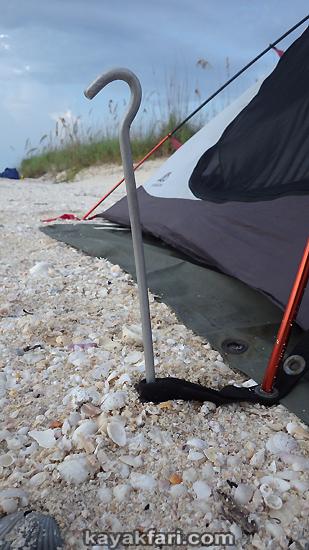Flex Maslan kayakfari kayak canoe camp tent spike everglades florida bay big 10 inch humor aluminum size matters