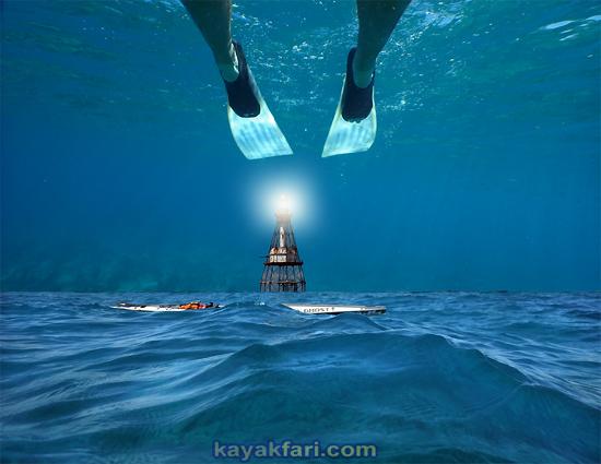 flex maslan Kayakfari reef fowey rocks lighthouse kayak paddle dive wreck photography surfski miami history